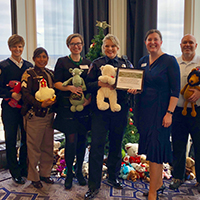 Emily led Ice Miller's team to win the award for most bears donated to the 2017 Indianapolis Bar Association Paralegal Committee Teddy Bear Challenge.