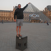 What a way to end a day – walking through the Louvre.