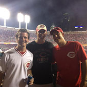 I am a huge Cincinnati Reds fan, so it was especially cool to get a picture with Cincinnati Bengals kicker and Ohio State alum Mike Nugent during the game.