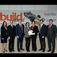Ice Miller Attorneys and Indianapolis Motor Speedway officials celebrate the 100th Running™ of the  Indy 500®