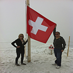 Daniel and his wife, Kayla, love to travel together. Here, they visit the top of Jungfrau in Switzerland.