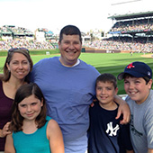Willett and her family take in their first Cubs game at Wrigley Field in Chicago (June 2014).