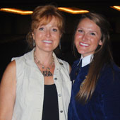 Sherry with her daughter Allie, after Allie was elected the 2013-14 President of the Indiana FFA.