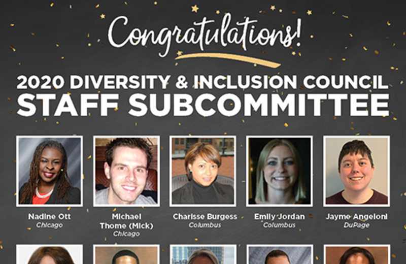 Thumbnail image for 2020 Diversity & Inclusion Council Staff Subcommittee Named